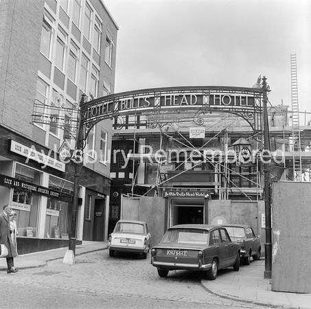 Bulls Head Hotel on last day, July 29th 1968