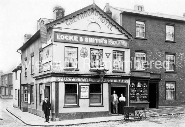 Greyhound Hotel, Great Western Street, c1905