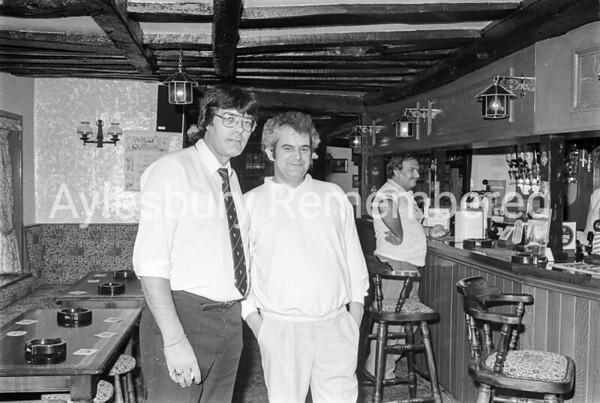Licensee of Lobster Pot, William MacGregor Bulmer (left), Aug 1987