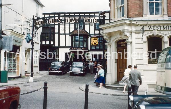 Bull's Head Hotel, Market Square, Aug 1961
