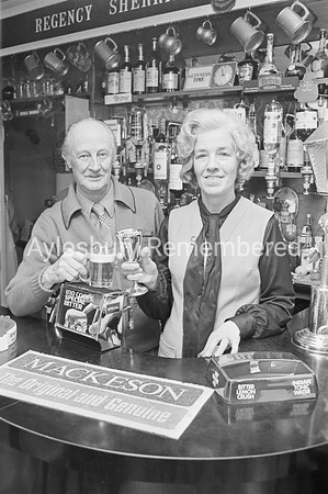 Mr & Mrs Dwight, licensees of The Ship, Apr 1976
