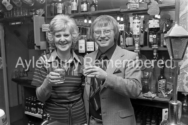 John & Jane Lamb, licensees of The Ship, May 1976