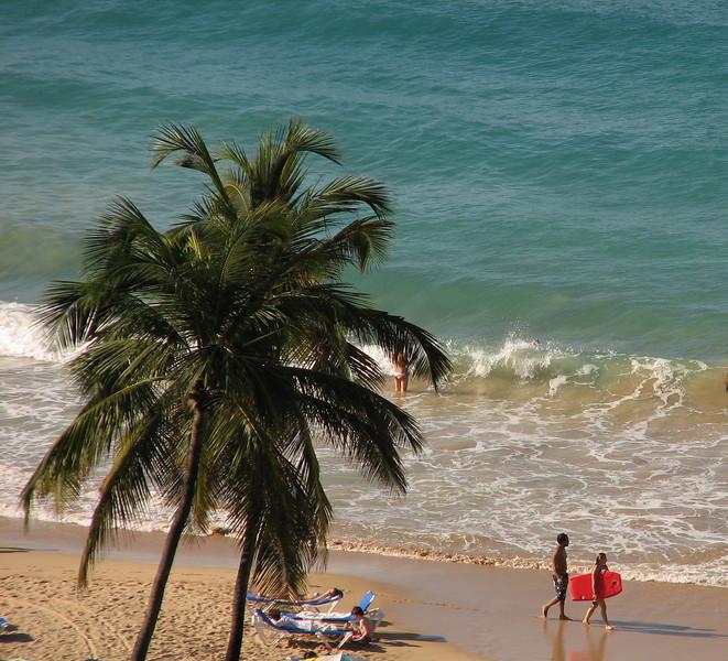 View from our condo in Condado, Puerto Rico