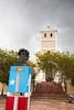 A statue honoring Ramon E. Betances is located in La Plaza de la Revolucion in Lares, PR<br /> <br /> PR-090806-0200