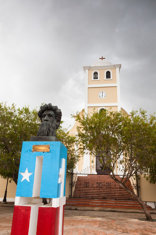 A statue honoring Ramon E. Betances is located in La Plaza de la Revolucion in Lares, PR<br /> <br /> PR-090806-0200