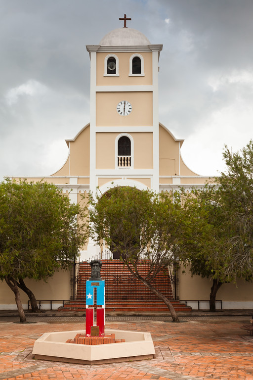 San Jose Church at the town square in Lares, PR<br /> <br /> PR-090806-0176