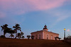 Puerple hues dominate the view of the Punta Mulas Lighthouse. Vieques, PR<br /> <br /> PR-090811-0182