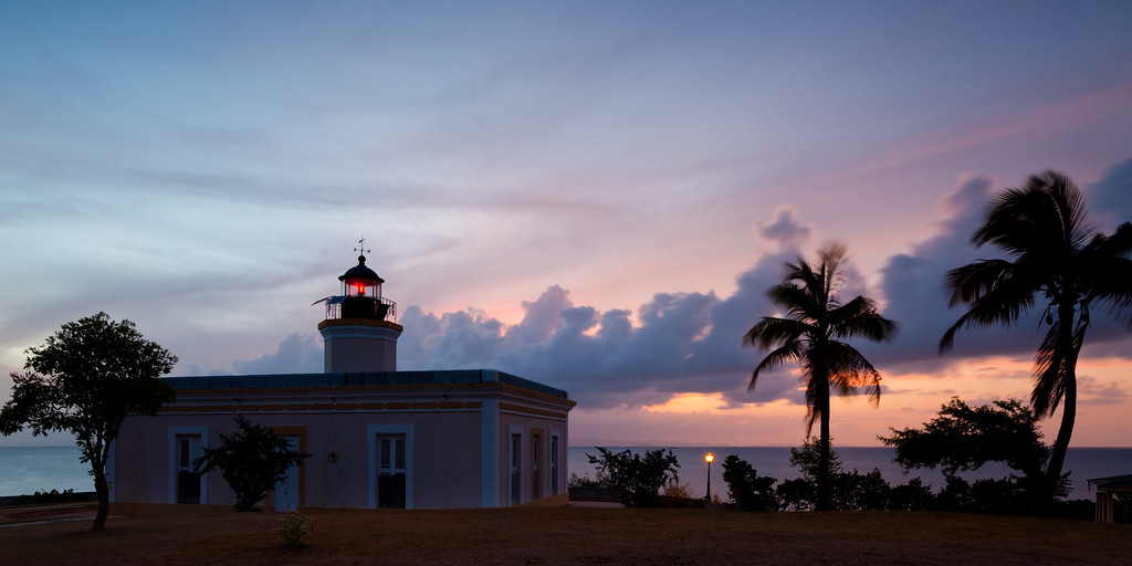 As the sun sets, the western sky acquires purple and organge hues. Vieques, PR<br /> <br /> PR-090811-0190