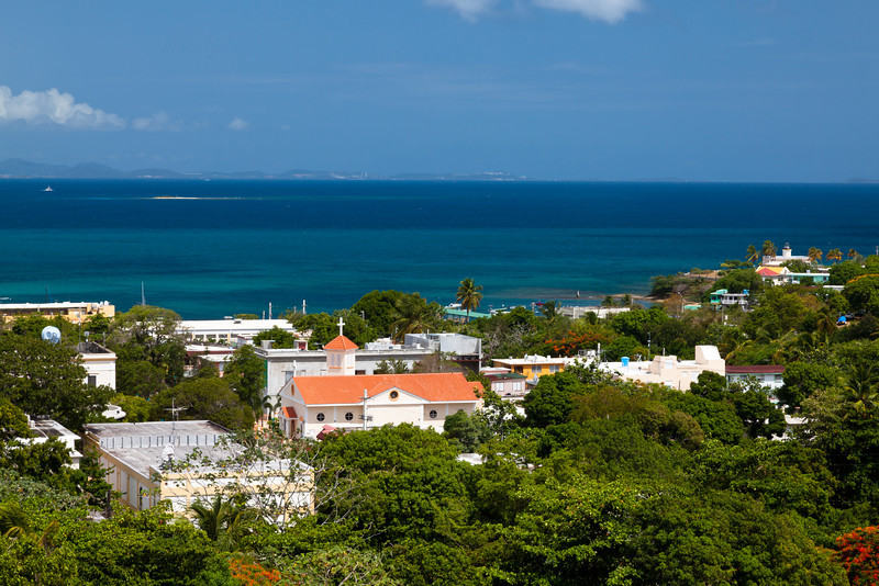 View of the town of Isabel Segunda from Conde Mirasol fort. Vieques, PR<br /> <br /> PR-090812-0125