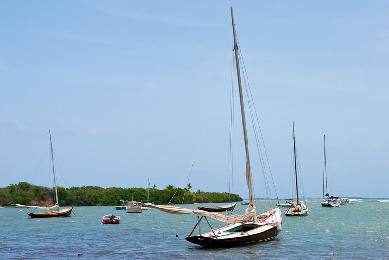 Boats anchored at Las Croabas. Fajardo, PR<br /> <br /> PR-070802-0096