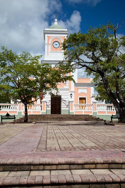 Catholic church at the main plaza in Fajardo. Fajardo, PR<br /> <br /> PR-090810-0027