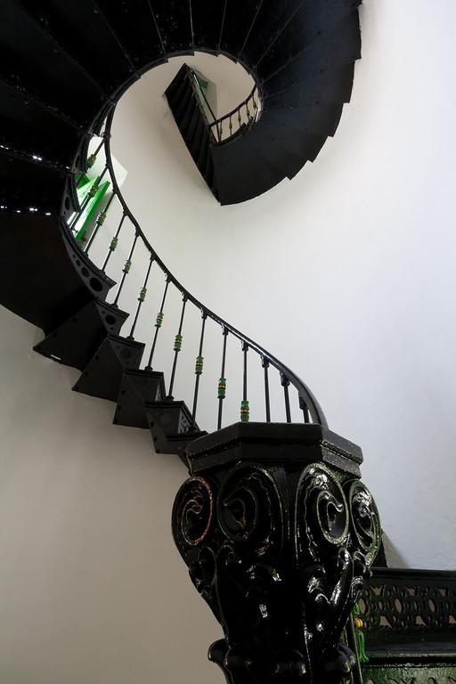 Lighthouse spiral staircase. Fajardo, PR<br /> <br /> PR-070802-0058