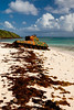 An old tank, a reminder of the U.S. marines target practices on the island, rusts on the shores of Flamenco beach. Culebra, PR<br /> <br /> PR-110726-0048