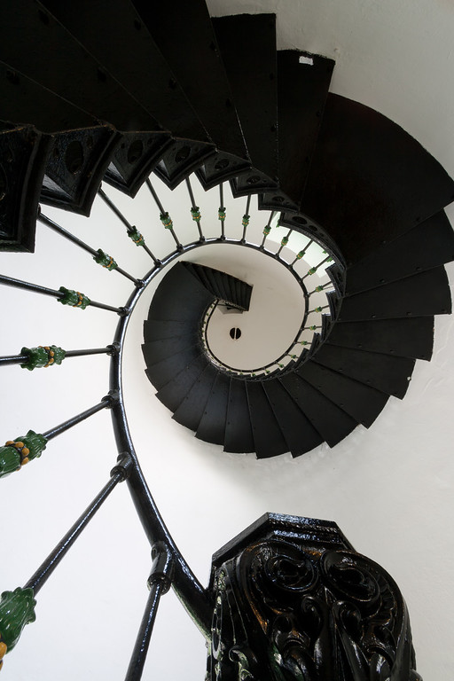 Lighthouse spiral staircase. Fajardo, PR<br /> <br /> PR-070802-0047
