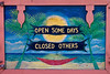 A colorful sign found on a cart on the town of Dewey. Culebra, PR<br /> <br /> PR-110726-0004