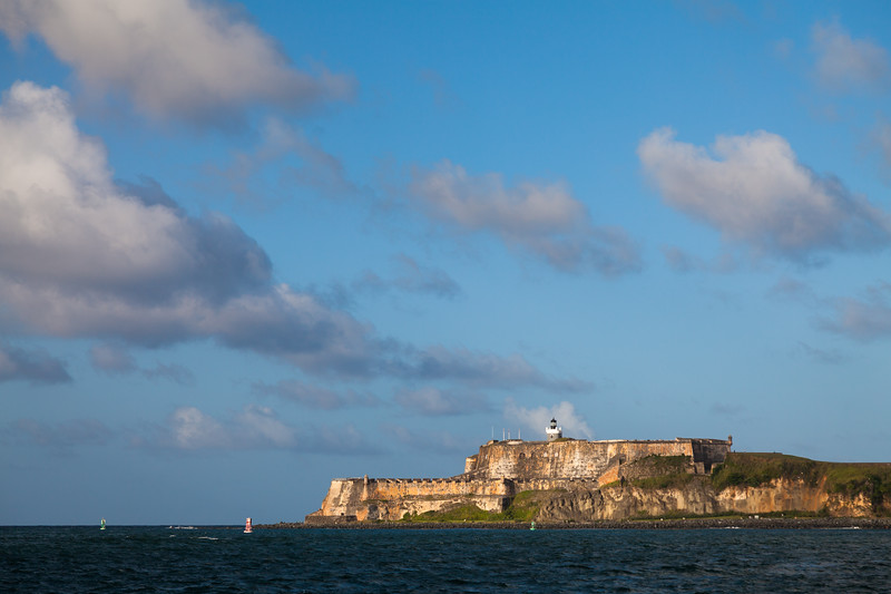 Across the bay from El Cañuelo is el Morro. These two forts protected the entrance to the San Juan Bay. Cataño, PR<br /> <br /> PR-090802-0020
