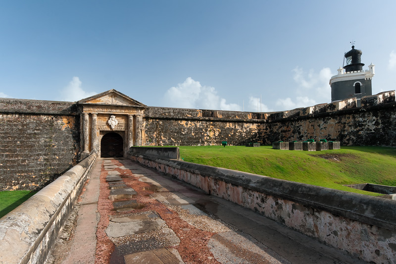 Main entrance to El Morro. San Juan, PR<br /> <br /> PR-070723-0043