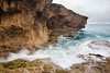 Waves break against the rock formations in La Cueva del Indio. Arecibo, PR<br /> <br /> PR-090805-0073