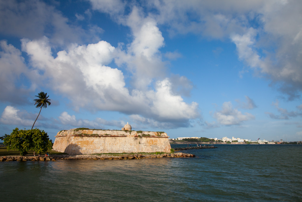 El Cañuelo was part of the fortification system built by the Spanish to protect San Juan. Cataño, PR<br /> <br /> PR-090802-0017