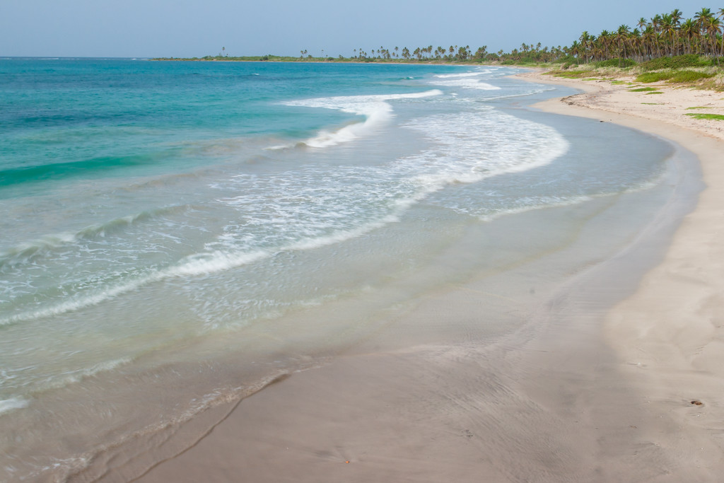 Shore of one of the beaches in Guánica. Guánica, PR<br /> <br /> PR-070718-0087
