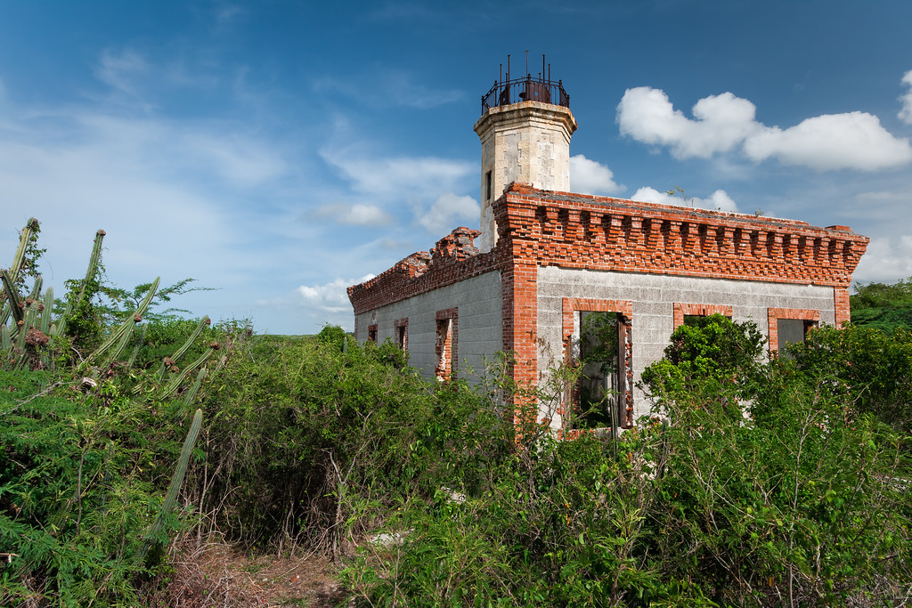 Vegetation is overtaking the area around the Guanica Lighthouse. Guanica, PR<br /> <br /> PR-070717-0200