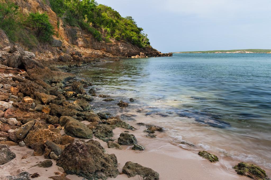 Rocky shore of Jaboncillo Beach. Guánica, PR<br /> <br /> PR-070717-0129