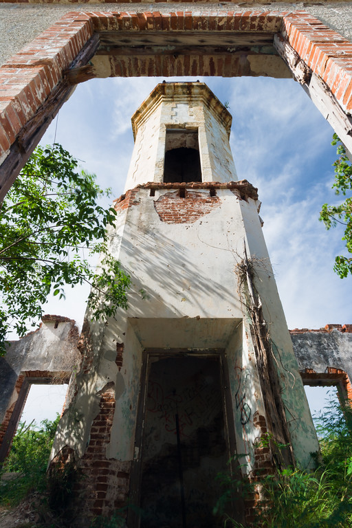 Remains of the Guanica Lighthouse light tower. Guanica, PR<br /> <br /> PR-070717-0171