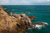 Formations along the cliffs in Cabo Rojo. It is believed that Christopher Columbus bestowed the name Cabo Rojo (red cape) to this area when he saw these limestone cliffs. Cabo Rojo, PR<br /> <br /> PR-110728-0145