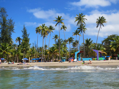 Luquillo Beach one of the best beaches in Puerto Rico.