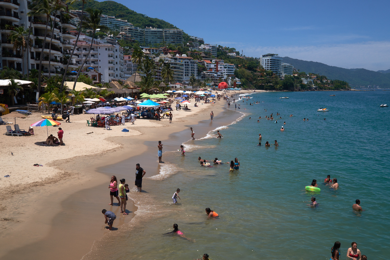The beach at downtown PV.