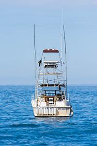 Moored fishing boat