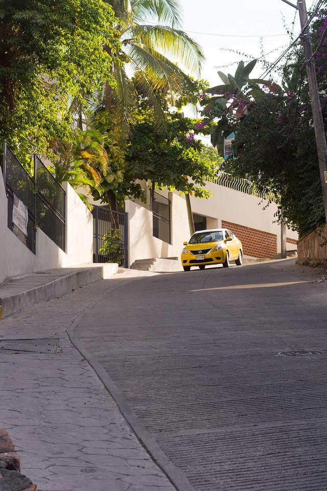 A steep drive