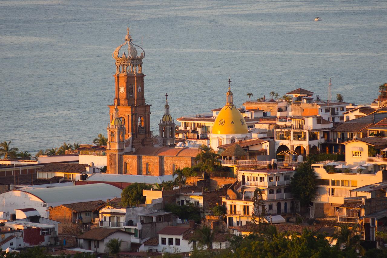 La Iglesia de Nuestra Senora de Guadalupe in the evening