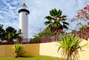 The Punta Higuera lighthouse and park near Rincon, Puerto Rico.