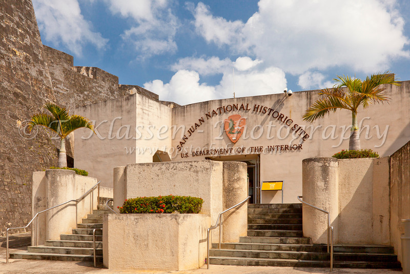 Front entrance to the San Cristobal Castle in San Juan, Puerto Rico, West Indies.