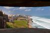 View of the Puerto Rico coastline near San Juan from the San Cristobal Castle.