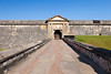 The front entrance bridge and door to San Felipe del Morro Castle in san Juan, Puerto Rico, West Indies.