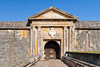 The front entrance bridge and door to San Felipe del Morro Castle in san Juan, Puerto Rico, West Indies.