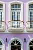 Buildings with balconies, window and doors in San Juan, Puerto Rico, West Indies.