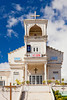 The church in the town square in Yabucoa, Puerto Rico, West Indies.