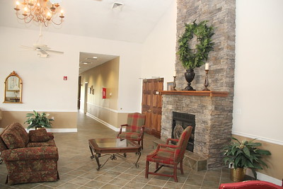 Clubhouse Lobby Fireplace