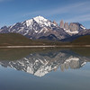 10:19am and the chocolate box image of Torres del Paine, still in flat calm conditions.