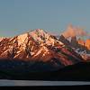 On the way to look for more pumas we had time for a quick sunrise landscape session.  Almirante Nieto mountain on the left and the three towers that give Torres del Paine its name to the right.