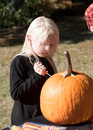 Pumpkin Carving at the Marshall's