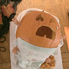 Some of the employees at Leominster City Hall participated in a pumpkin decorating contest that was voted on on Thursday, Oct. 31, 2019. This screaming baby pumpkin was made by Diana Richard. SENTINEL & ENTERPRISE/JOHN LOVE