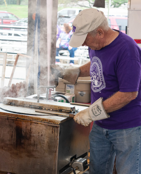 Freshly-popped popcorn was sold at the Pumpkin Patch Arts and Crafts Fair. This craft fair located at Cico Park is Manhattan's most popular craft fair of the year that brings in people of all ages. (Brooke Barrett   Collegian Media Group)
