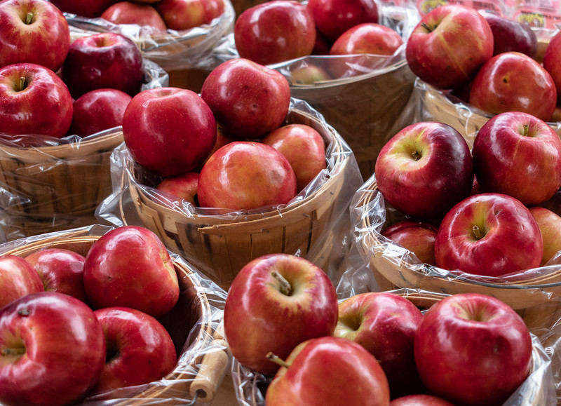 Fresh-picked apples from the orchard were sold at the Pumpkin Patch Arts and Crafts fair. The event took place at Cico Park in Manhattan on Friday, October 5th and Saturday, October 6th. (Brooke Barrett   Collegian Media Group)