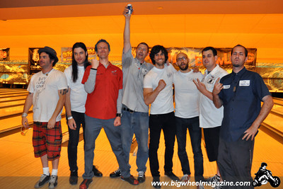 The Pin Ladins and Northeast Records team celebrate a hard fought battle - Punk Rock Bowling - Day 3 Final Rounds - Bowling Action - Las Vegas, NV - May 9, 2010