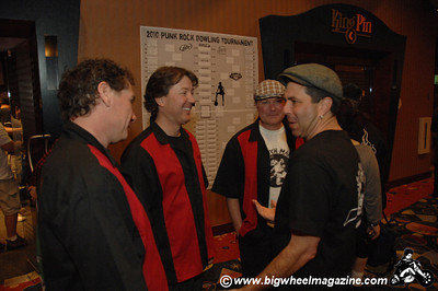Mark Stern and the guys from Stretch Marks - Mark Stern checking out things - Punk Rock Bowling - Day 3 Bowling Action - Las Vegas, NV - May 9, 2010