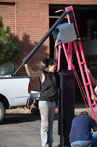 Greg helping and getting the sling in position